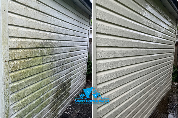 Before / After our Low-Pressure House Wash