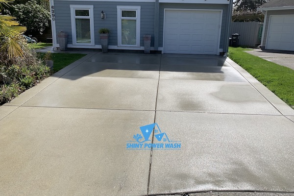 Before /  After Our Concrete Cleaning